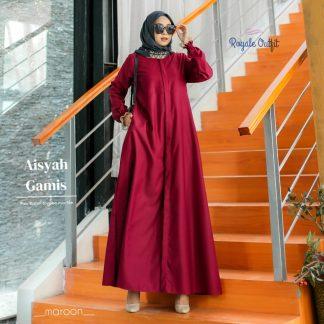 gamis terbaru 2021 simple elegan Aisyah Marun