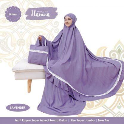mukena dewasa super jumbo lavender