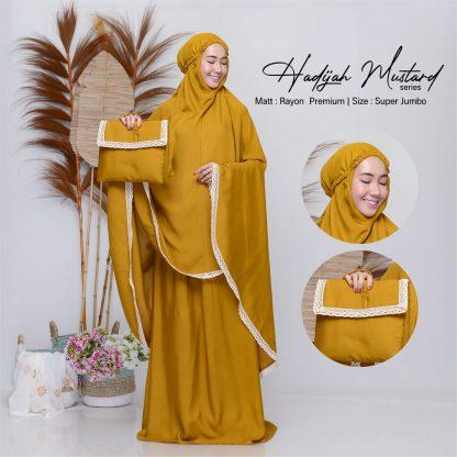 mukena polos jumbo hadijah mustard
