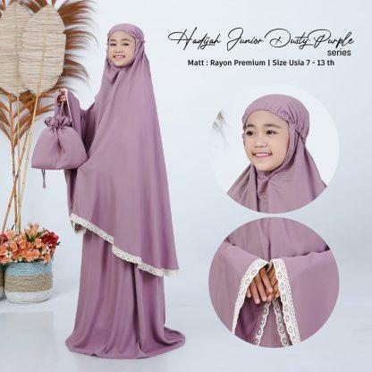 mukena anak hadijah - dusty purple