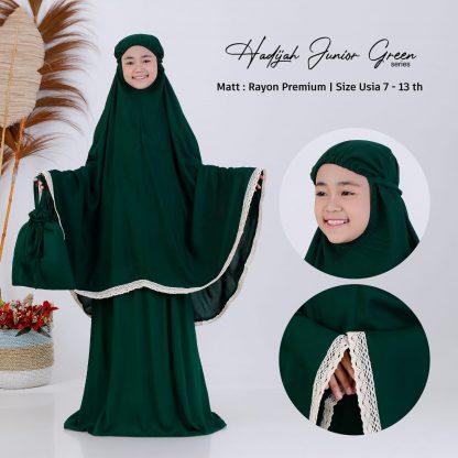 mukena anak hadijah - green